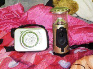Handkurbelleuchte und Kurbelradio